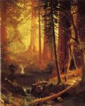 albert bierstadt acrylic paintings - giant redwood trees of california by albert bierstadt