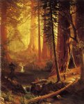 albert bierstadt giant redwood trees of california painting 37668