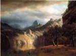 western art - in western mountains by albert bierstadt