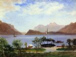italian artwork - italian lake scene by albert bierstadt
