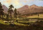 long s peak estes park colorado by albert bierstadt painting