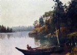 albert bierstadt salmon fishing on the northwest coast painting