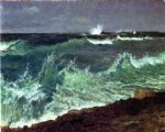 seascape by albert bierstadt painting