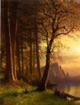 albert bierstadt sunset in california painting