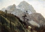 western art - western trail the rockies by albert bierstadt