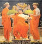 albert moore acrylic paintings - midsummer by albert moore