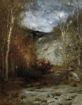 rocky ledge  adirondacks by alexander helwig wyant painting