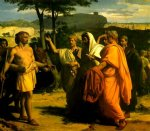 alexandre cabanel acrylic paintings - cincinnatus receiving deputies of the senate by alexandre cabanel