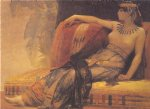alexandre cabanel watercolor paintings - cleopatra study by alexandre cabanel
