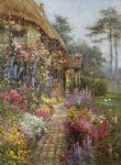 alfred de breanski original paintings - a garden in july by alfred de breanski