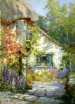 alfred de breanski art - a home in devon by alfred de breanski