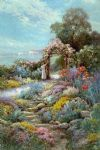 alfred de breanski famous paintings - a rock garden by alfred de breanski