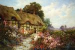 alfred de breanski famous paintings - ann hathaway s cottage by alfred de breanski