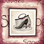alfred gockel watercolor paintings - fashion shoes i by alfred gockel
