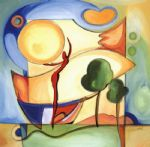alfred gockel watercolor paintings - fun in the sun i by alfred gockel