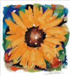 alfred gockel watercolor paintings - giant sunflower by alfred gockel