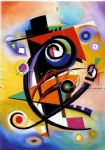 homage to kandinsky by alfred gockel painting
