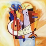 alfred gockel jazz on the square painting 79855