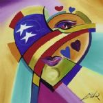 american acrylic paintings - love american style iii by alfred gockel