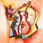 alfred gockel music is my life painting