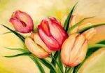tulip famous paintings - natural beauty tulips ii by alfred gockel