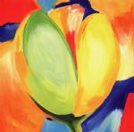 tulip original paintings - riotous tulips ii by alfred gockel