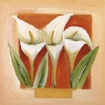 floral original paintings - sandstone florals ii by alfred gockel