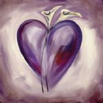 alfred gockel shades of love lavender painting-82438