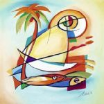 sun fish i by alfred gockel painting