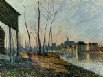 a february morning at moret by alfred sisley prints