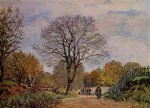 a road in seine by alfred sisley prints