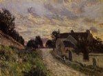 a small street in louveciennes by alfred sisley prints