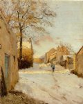 a village street in winter by alfred sisley prints