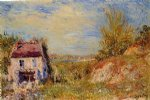 abandoned house ii by alfred sisley painting