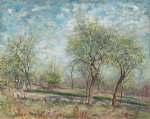 alfred sisley apple trees in bloom painting-37270