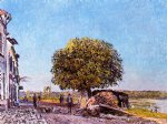 alfred sisley chestnut tree at saint painting-37293