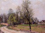 alfred sisley original paintings - edge of the forest in spring evening by alfred sisley
