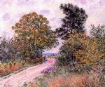 alfred sisley original paintings - edge of the fountainbleau forest by alfred sisley