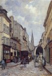 alfred sisley original paintings - la grand rue argenteuil by alfred sisley