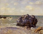 langland bay storr s rock morning by alfred sisley painting