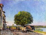 alfred sisley original paintings - le marronier saint by alfred sisley