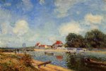 loing dam at saint by alfred sisley acrylic paintings