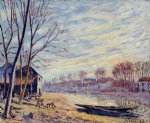 matrat cottages by alfred sisley acrylic paintings