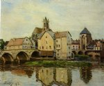 alfred sisley original paintings - moret by alfred sisley