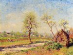 alfred sisley famous paintings - road at veneux by alfred sisley