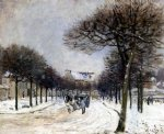 road from saint by alfred sisley acrylic paintings