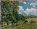 road from versailles to saint by alfred sisley acrylic paintings