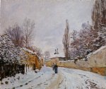 road under snow louveciennes by alfred sisley acrylic paintings