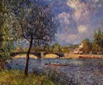 rowers by alfred sisley painting