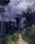 rural guardsman in the fountainbleau forest by alfred sisley acrylic paintings